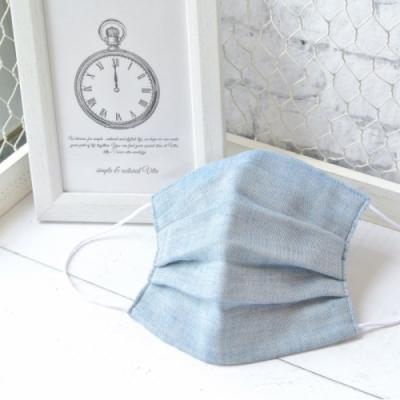 TEMARIYA 日本製 可水洗手作立體口罩M(素色)-天空藍