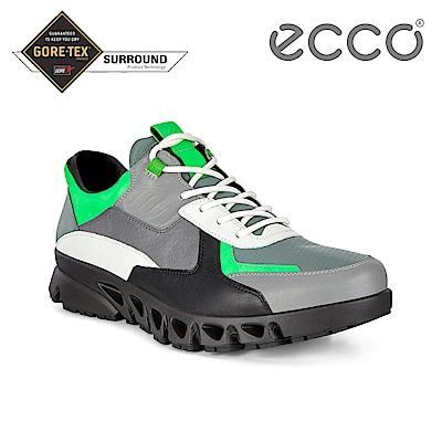 ECCO MULTI-VENT M 全方位城市戶外運動休閒鞋 男-亮綠/黑/灰