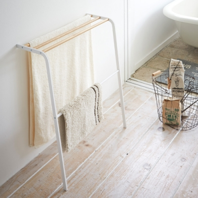 日本 YAMAZAKI-TOSCA立式毛巾架★浴室收納/浴巾架/收納