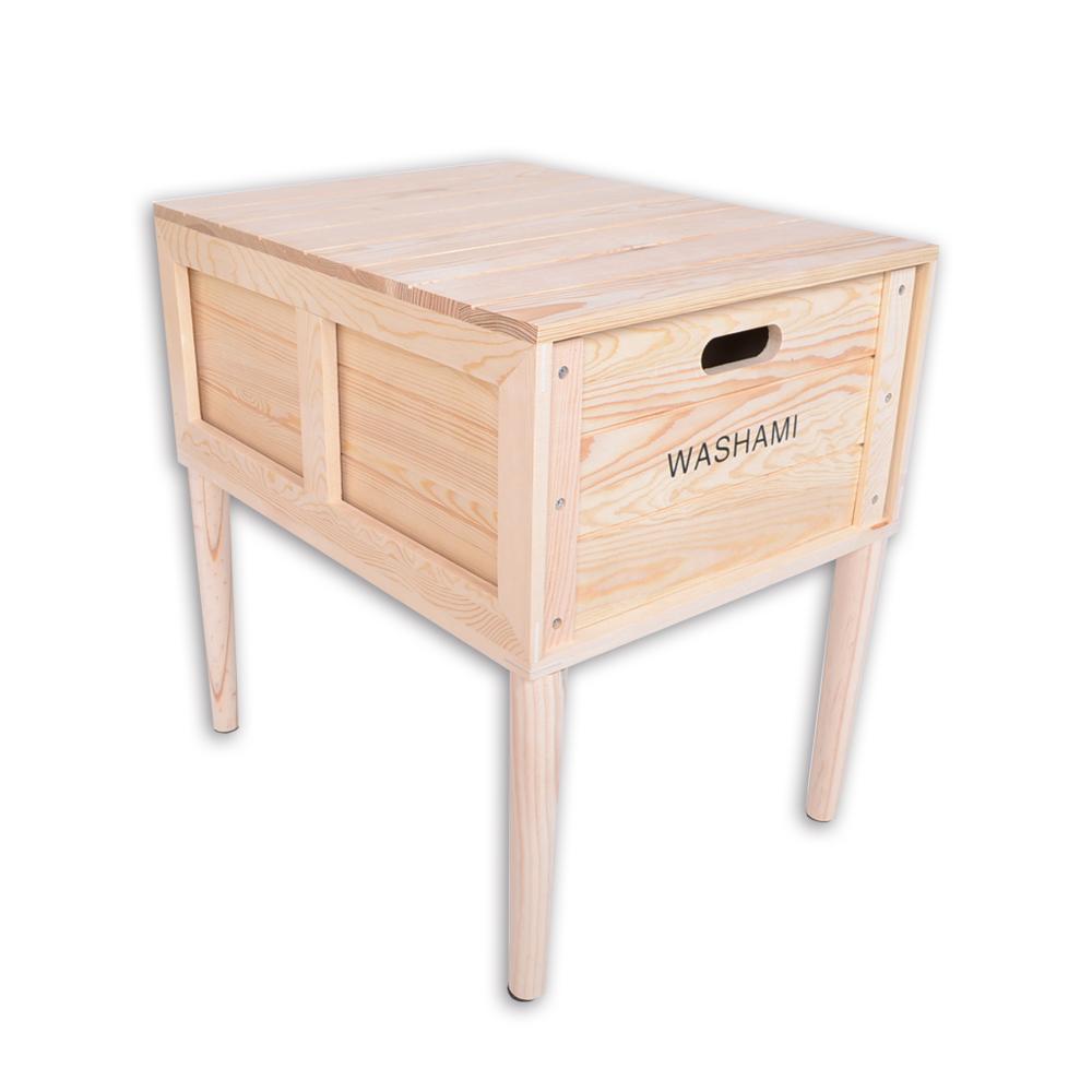 WASHAMl-小工匠萬用松木創意工業風併接箱-(附桌腳)