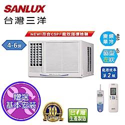 台灣三洋SANLUX 4-6坪窗型變頻左吹式SA-L28VE