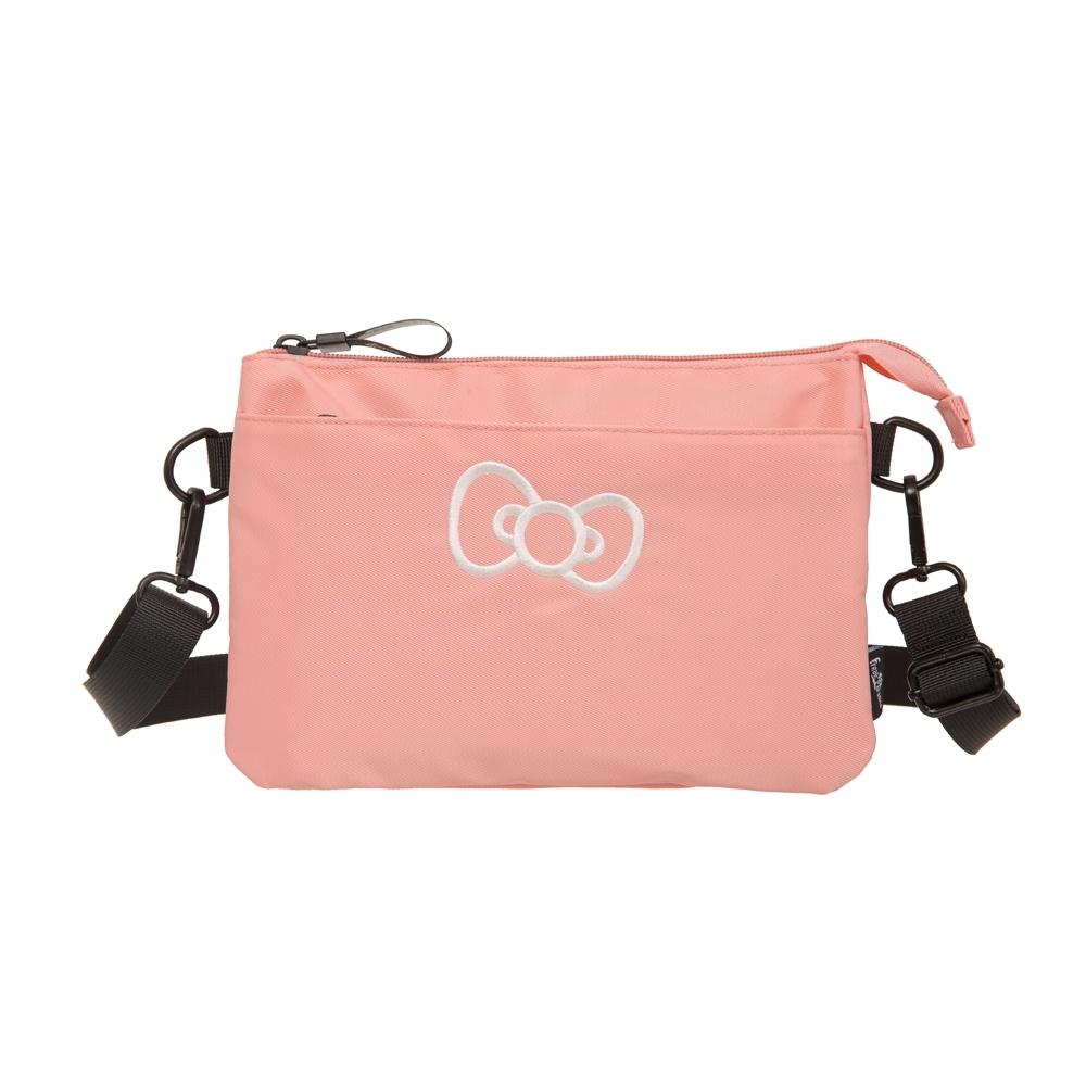 【Hello Kitty】蝴蝶結凱蒂-雙層側背包-粉 FPKT0E002PK