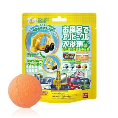 日本Bandai-勤務車入浴球Ⅱ-5入(柑橘香氣/附汽車公仔輪胎可轉動/聖誕禮物/交換禮物/泡澡)
