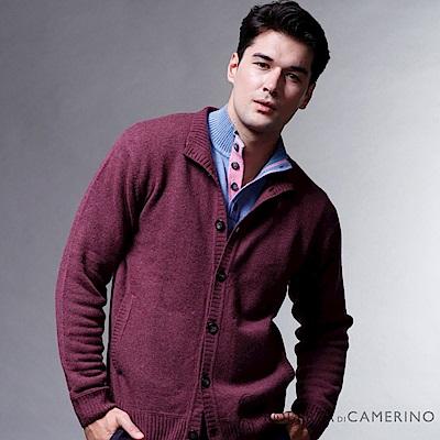 ROBERTA諾貝達  都會休閒 100%純美麗諾羊毛外套 暗紅