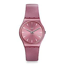 Swatch PASTELBAYA 閃耀粉紅手錶