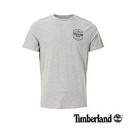 Timberland 男款中麻灰圓領短袖T恤|A1X1R
