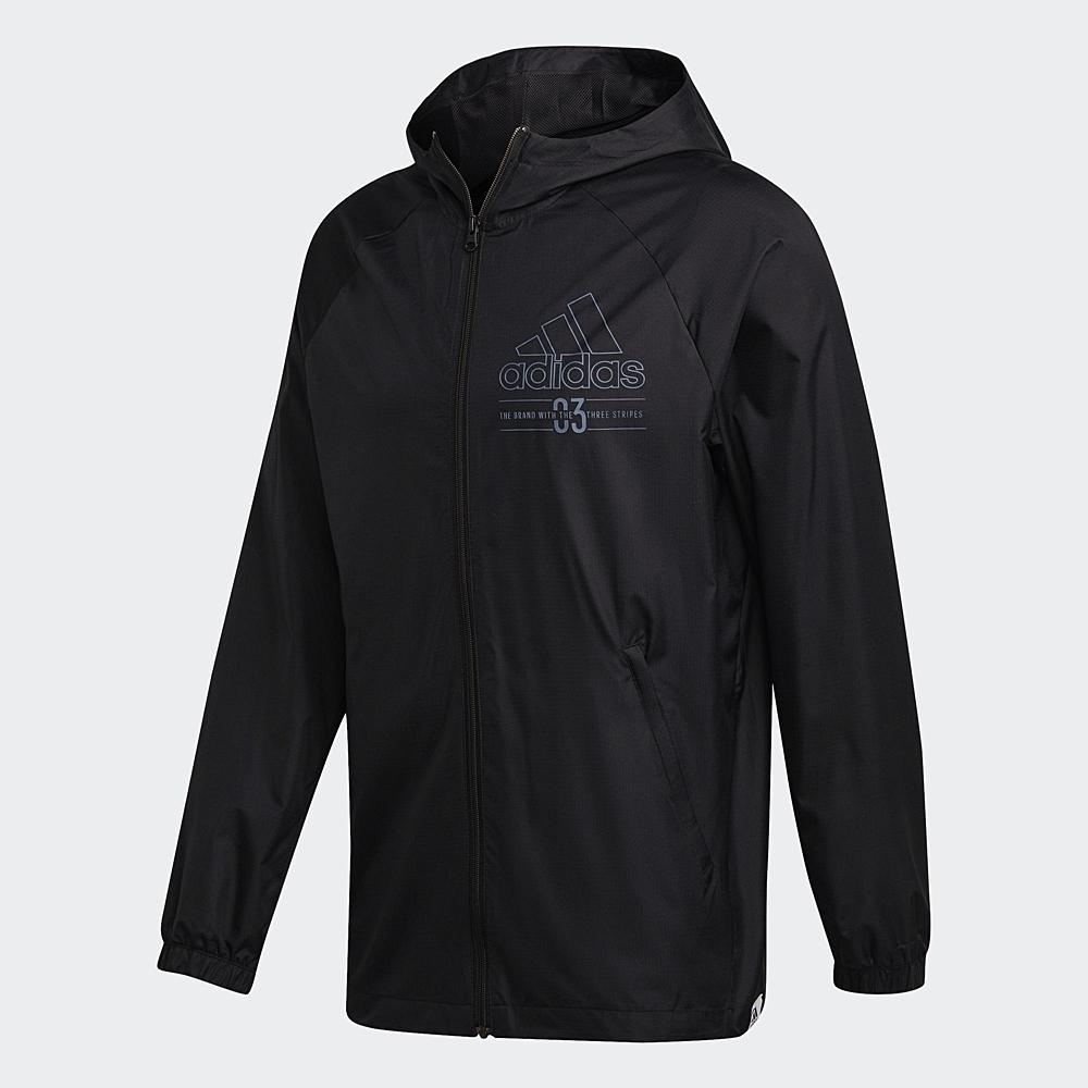 adidas 連帽外套  運動 風衣外套 男款 黑 GD3837 M BB WB