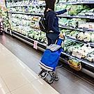 樂嫚妮 可爬樓梯環保購物買菜籃車-藍