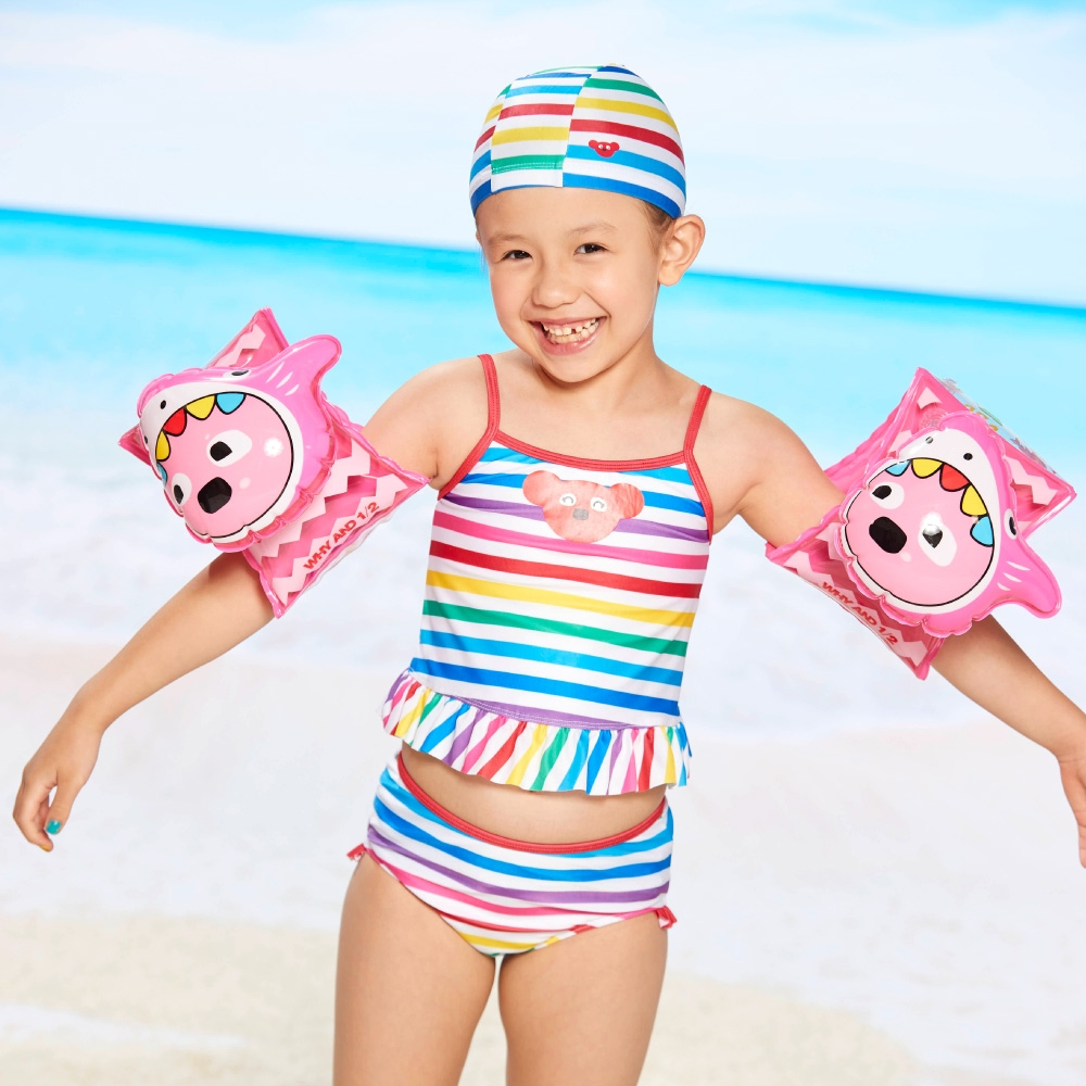 WHY AND 1/2 mini 兩件式泳衣 2Y ~ 4Y (彩條)