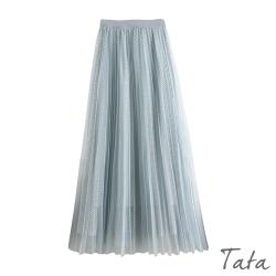網格百褶紗裙 共二色 TATA-F