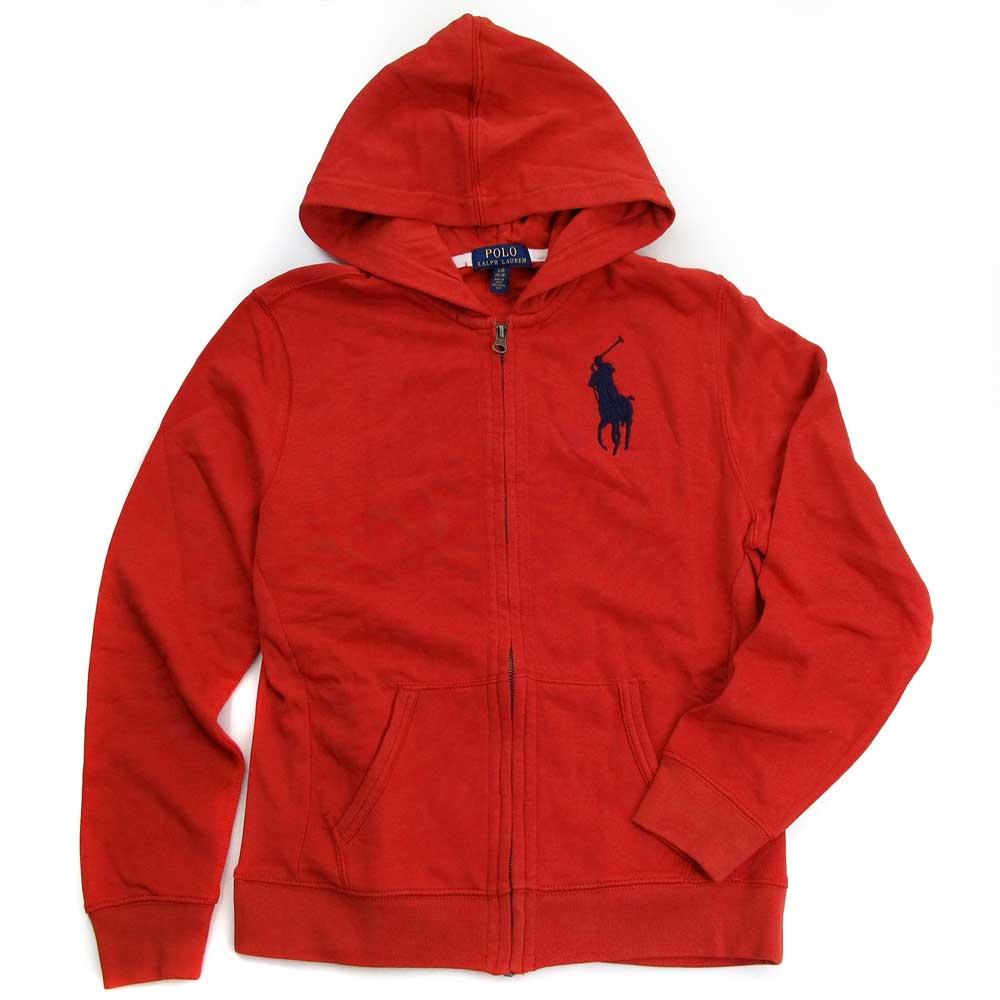 Polo Ralph Lauren 大馬Logo鋪棉連帽外套(紅色)