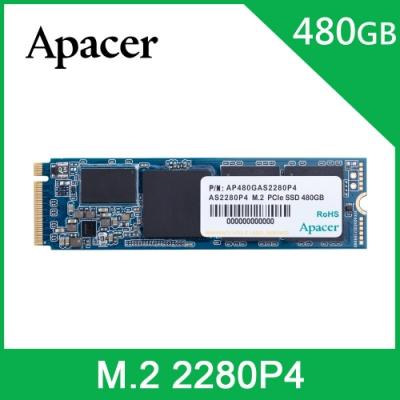 APACER AS2280P4 M.2 PCIe Gen3 x4 480G固態硬碟