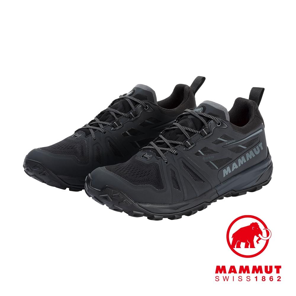 【Mammut 長毛象】Saentis Low GTX Men GTX低筒健行鞋 黑/幻影黑 男款 #3030-03410
