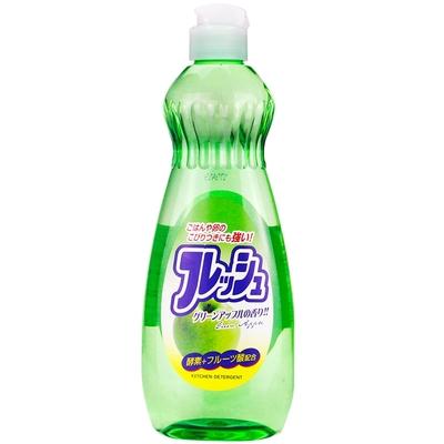 日本【火箭石鹼】多功效洗潔精600ml(青蘋果香)