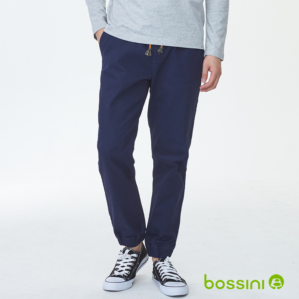 bossini男裝-保暖束口褲(內磨毛)01海軍藍