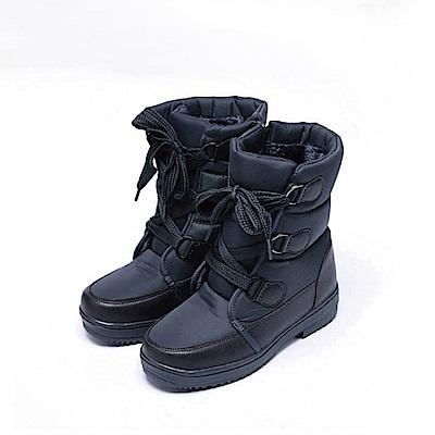 【AIRKOREA韓國空運】雪地可穿-防風鋪棉保暖雪靴中筒靴-灰