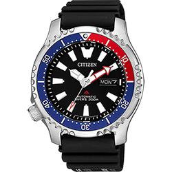 CITIZEN 星辰 PROMASTER 限量200米潛水機械錶-紅藍錶圈/42mm