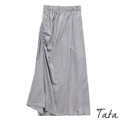 氣質側邊抓皺修身裙 共二色 TATA