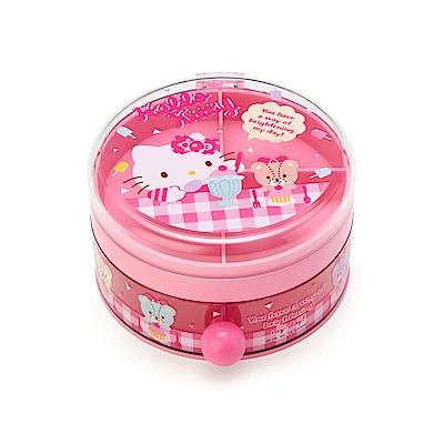 Sanrio HELLO KITTY圓型樹脂飾品收納盒(小熊甜點)