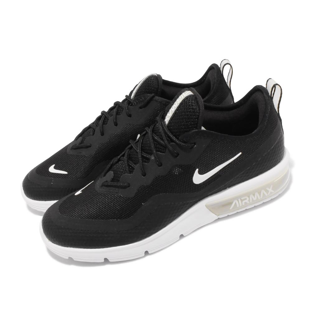 Nike 休閒鞋 Air Max Sequent 運動 女鞋 海外限定 氣墊 避震 包覆 球鞋穿搭 黑 白 BQ8824001
