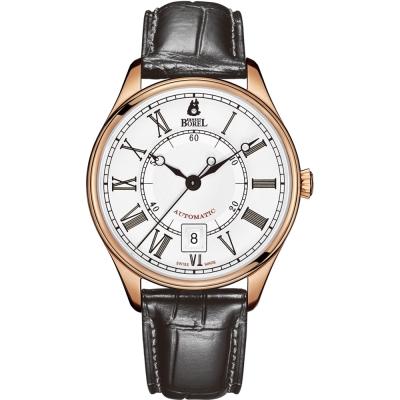 ERNEST BOREL 瑞士依波路錶 復古系列 8180玫瑰金皮帶-白色40.5mm