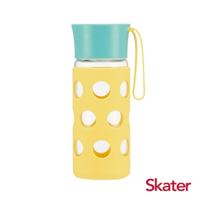 Skater玻璃隨行杯(含杯套)400ml 黃