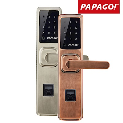 PAPAGO! AL-8100指紋密碼感應卡鑰匙4合一電子智能門鎖(含安裝)