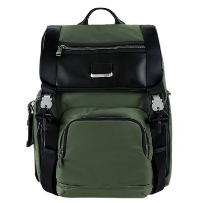 TUMI ALPHA BRAVO LARK系列15吋筆電雙皮帶翻蓋多夾層後背包(草綠)
