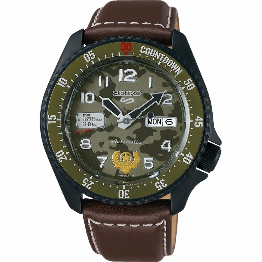 SEIKO 精工 5 Sports x 快打旋風 聯名限量機械錶-蓋爾-42.5mm