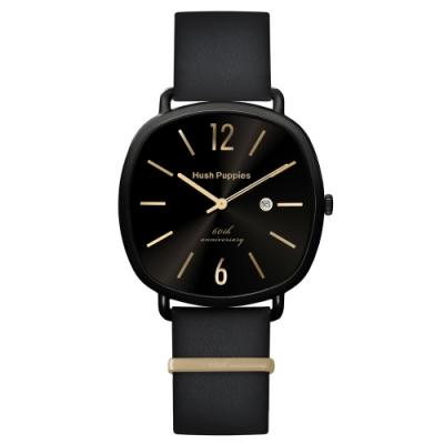 Hush Puppies 六十週年紀念腕錶 - 黑金 / 43x43mm