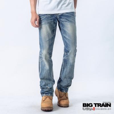 BIG TRAIN BT街頭小直筒褲-男-淺藍
