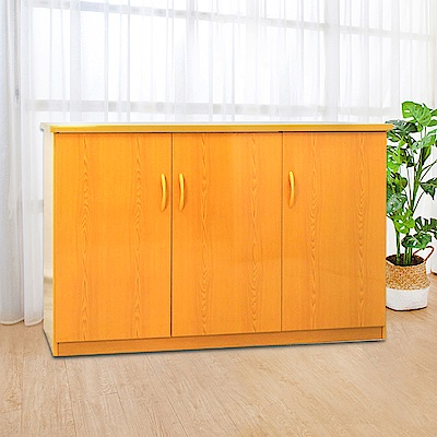 Boden-4.2尺三門塑鋼收納櫃/置物櫃(四色可選)-125x43x81cm