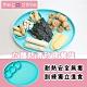 【The Good Time】英倫晚宴‧立體防滑矽膠學習餐具餐盤(5m+)-小名媛綠 product thumbnail 1