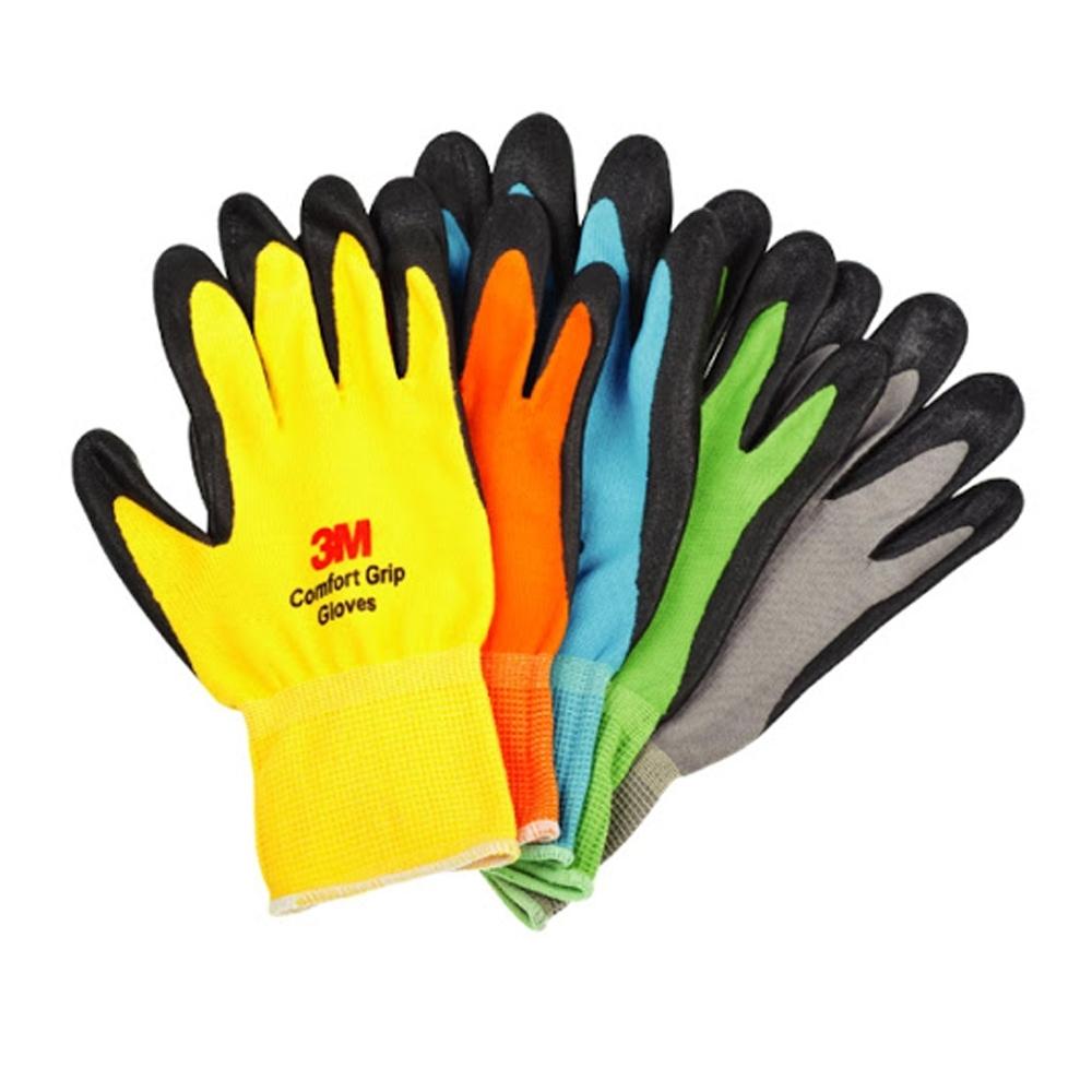 韓國製 亮彩止滑手套 3M 防滑手套 耐磨手套 手套 工作手套 舒適型止滑耐磨 修繕園藝 防護
