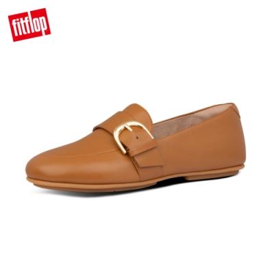 【FitFlop】D-BUCKLE LOAFERS 時尚扣環樂福鞋-女(淺褐色)