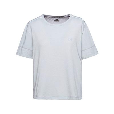 FILA 女短袖圓領T恤-淺灰 5TET-1320-GY