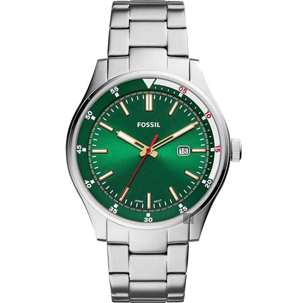 FOSSIL Belmar 新時代手錶(FS5533)-綠x銀/44mm