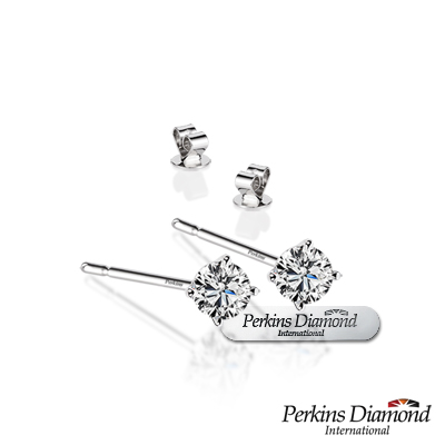 PERKINS 伯金仕 - Classic系列 0.16克拉鑽石耳環