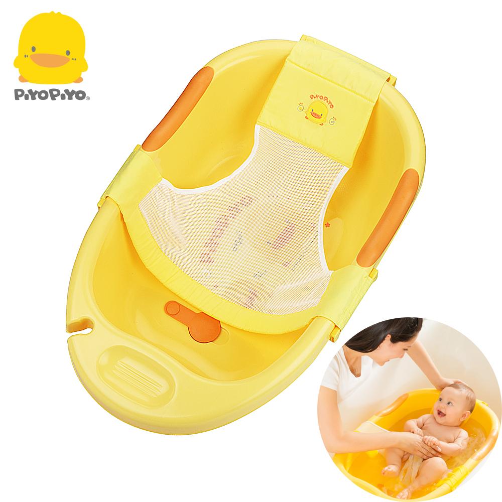 【任選】黃色小鴨《PiyoPiyo》網狀沐浴床(可調式)