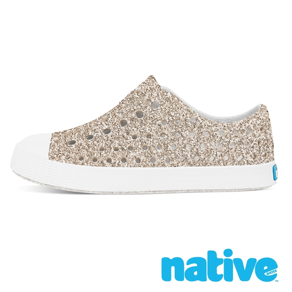 native 小童鞋 JEFFERSON 小奶油頭鞋-星鑽金x貝殼白