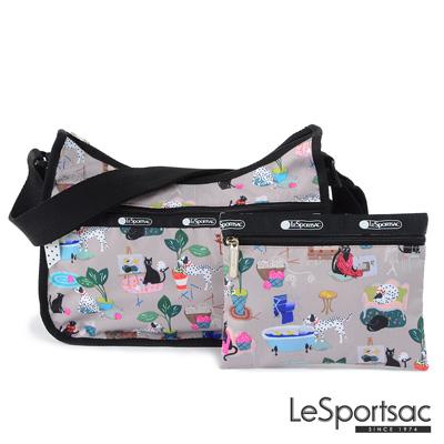 LeSportsac - Standard側背水餃包/流浪包-附化妝包 (毛孩愛搗蛋)