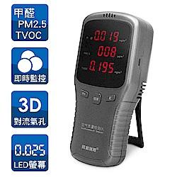 大LED面板 3in1 空氣品質檢測儀(PM2.5/甲醛/TVOC揮發