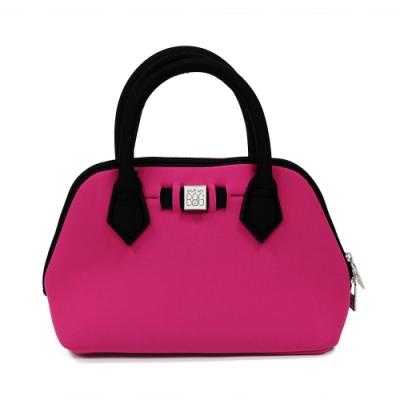 【展示品】SAVE MY BAG 義大利品牌 PRINCESS MINI系列 桃紅色超輕量迷你手提包