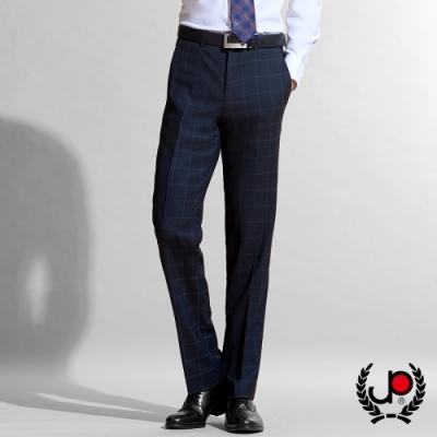【極品西服】英倫風範格紋羊毛平面西褲_黑格(BW603-1)