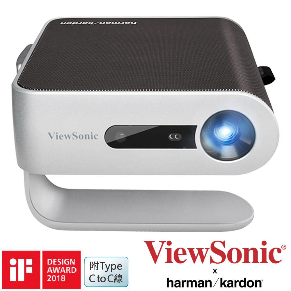 ViewSonic  M1+ WVGA 360度無線巧攜投影機 (300 LED流明)