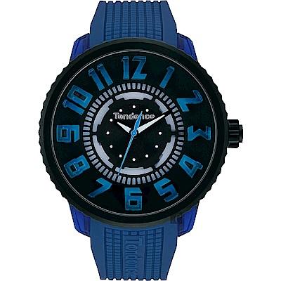 Tendence 天勢 酷炫LED立體休閒手錶-藍/50mm TY531003