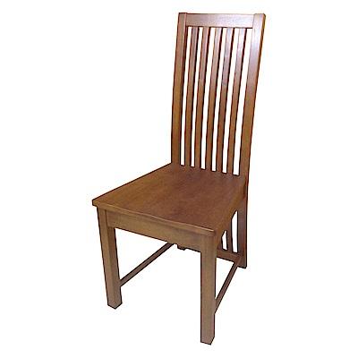 AS-Alisa胡桃色實木餐椅-45x47x101cm