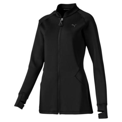 PUMA-女性訓練系列Studio立領外套-黑色-歐規