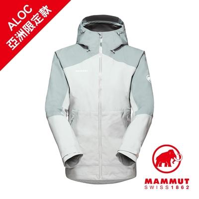 【Mammut 長毛象】Convey Tour HS Hooded Jacket GTX AF 防風防水連帽外套 公路灰 女款 #1010-28800
