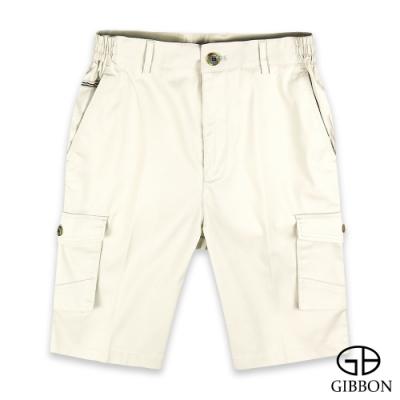 GIBBON 簡約彈性鬆緊短褲‧米白